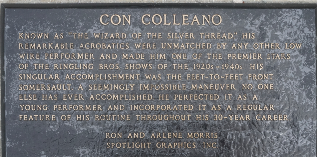 con colleano plaque