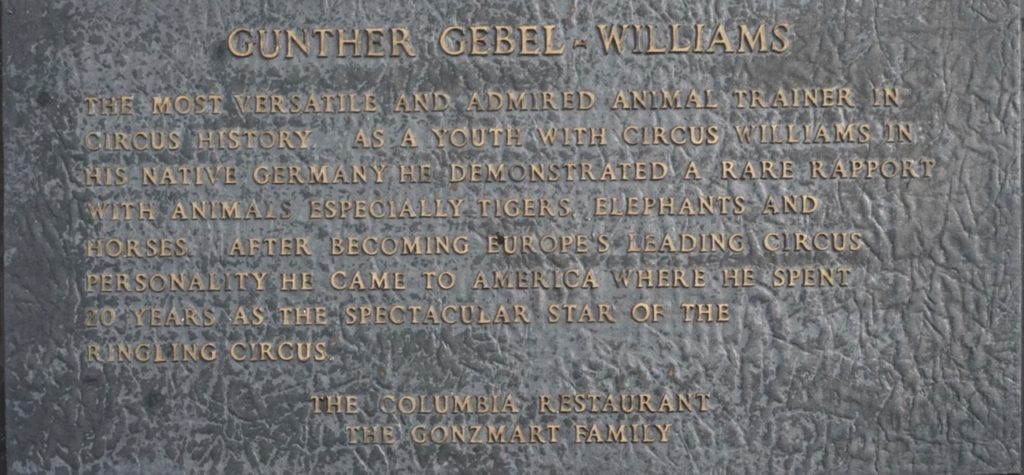 Gunther Gebel-Williams Circus Ring of Fame inductee