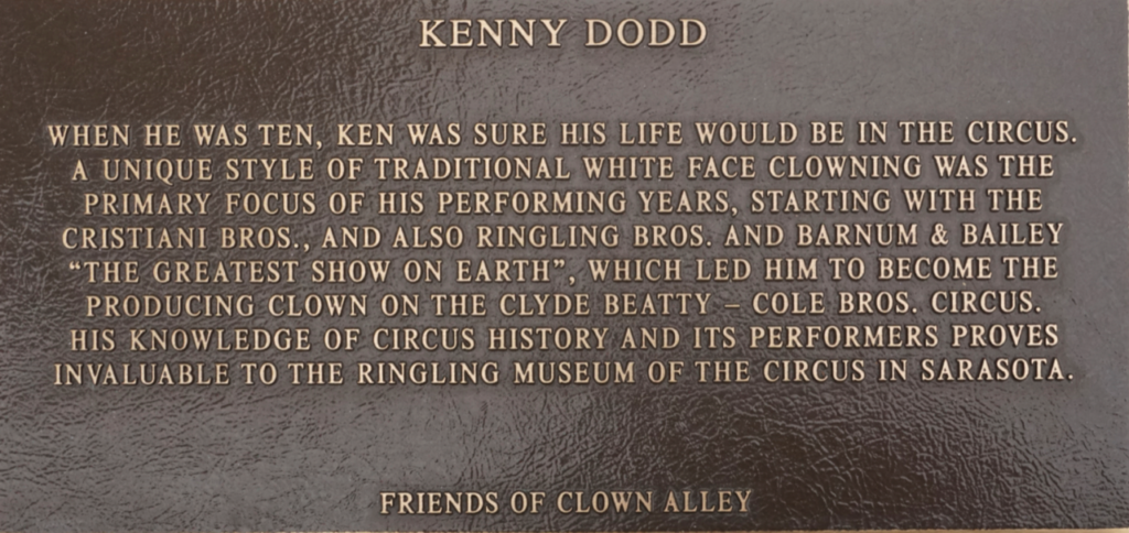 Kenny Dodd Circus Ring of Fame inductee