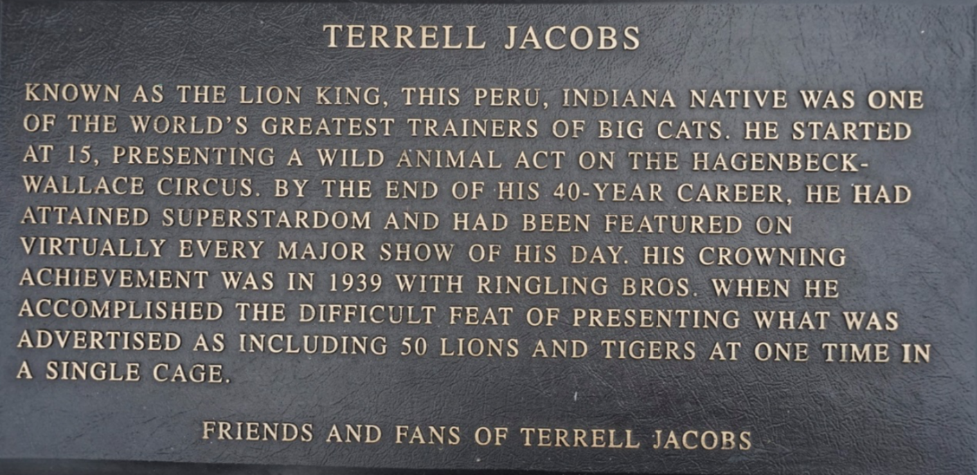Terrell Jacobs Circus Ring of Fame inductee